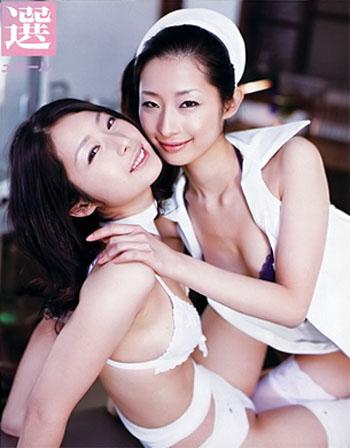 【美人】日本「性感双胞胎小护士」古川姊妹花mari
