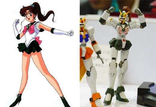 【新奇】美少女战士钢弹机器人耀眼现身!我要代替钢弹(月亮)来.